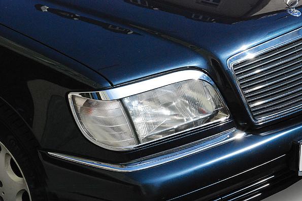 Schätz ® Chrom Scheinwerferrahmen Mercedes W140 Limousine