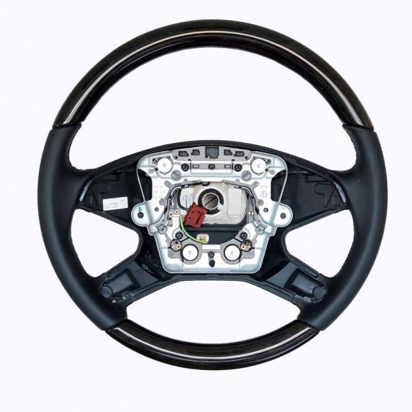 Schätz ® Sportlenkrad Eukalyptus/Leder schwarz Mercedes Benz E-Klasse W211 ab 06/2006