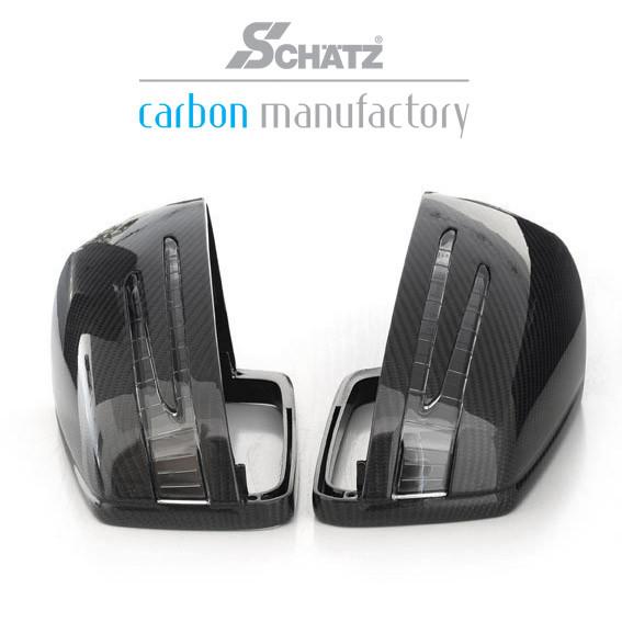 Schätz ® Carbon Spiegelgehäuse für Mercedes GL X164 ab 06/2010, ML