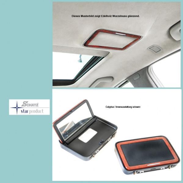Schätz ® Edelholz Kosmetikspiegel für S-Klasse W221 Calyptus Inennausstattung schwarz
