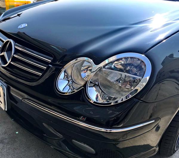 Schätz ® Chrom Scheinwerferrahmen Mercedes CLK W209 Coupe/Cabrio 2002 - 2010