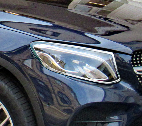 Schätz ® Chrom Scheinwerferrahmen für Mercedes GLC C253 Coupe ab 06/2015 bis 01.07.2020