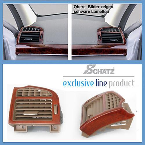 Schätz ® Edelholz Calyptus/savannenbeige Lüftungsdüsen Mercedes S-Klasse W221,alle Mod.
