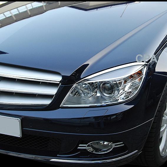 Schätz ® Chrom Scheinwerferrahmen Mercedes Benz C-Klasse W204 bis 03/2011 / C204