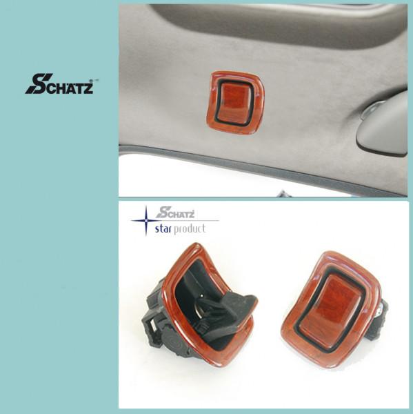 Schätz ® Edelholz Kleiderhaken für W221 in Calyptus, Innenausstattung schwarz