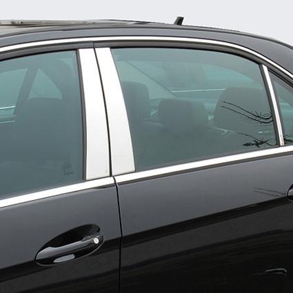 Schätz ® B-Säulenverkleidung hochglanzpoliert für Mercedes C-Klasse W203 Limousine