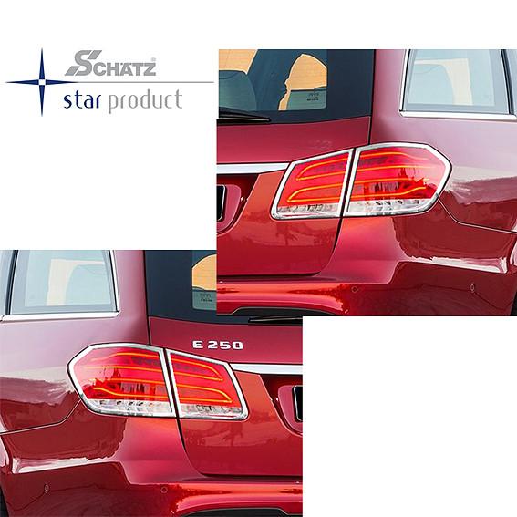 Schätz ® Chrom Rücklichtrahmen Mercedes E-Klasse S212 T-Modell ab 05/2013 -04/2016
