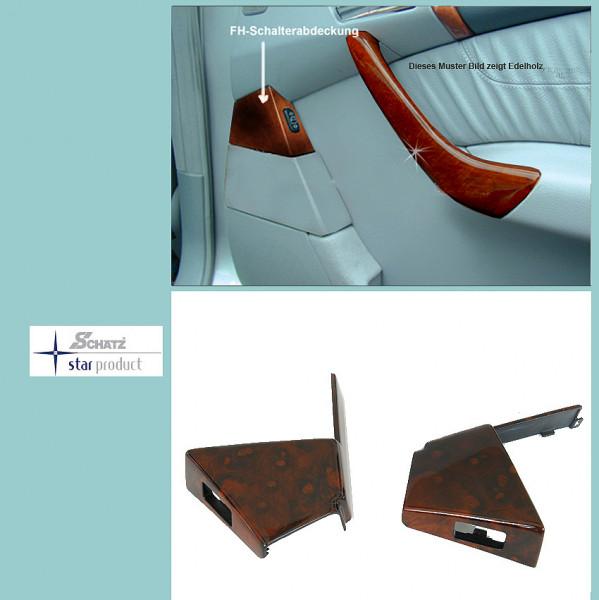 Schätz ® Edelholz Wurzelnuss Aschenbecher+Fensterheber Blende Mercedes S-Klasse W220