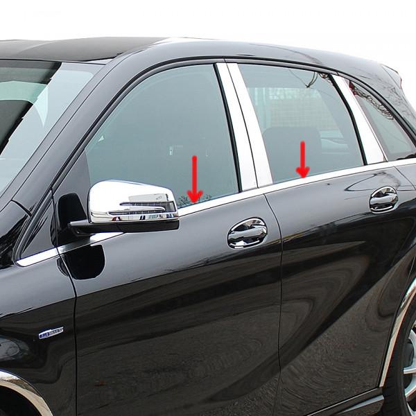 Schätz ® Edelstahl Fensterleisten für Mercedes B-Klasse W246 Bj. 09/2011-10/2014