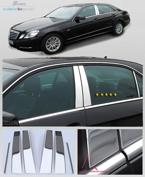 Schätz ® Edelstahl B-Säulenverkleidung hochglanzpoliert Mercedes E-Klasse W212 Lim. 2009 - 2016 (auch Mopf)