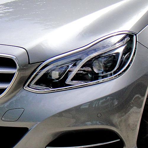 Schätz ® Chrom Scheinwerferrahmen Mercedes E-Klasse W212 Limousine ab 05/2013 bis 04/2016