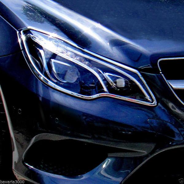 Schätz ® Chrom Scheinwerferrahmen Mercedes E-Klasse Coupé + Cabrio A/C207, ab 10/2013
