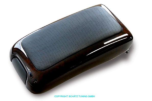 Schätz ® Edelholz/Leder Mittelarmlehnendeckelauflage Laurel/Leder Mercedes C-Klassee W203