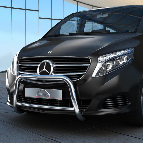 Edelstahl EU-Personenschutzbügel 60 mm mit Querrohr 42 mm für Mercedes Vito W447 ab 2014