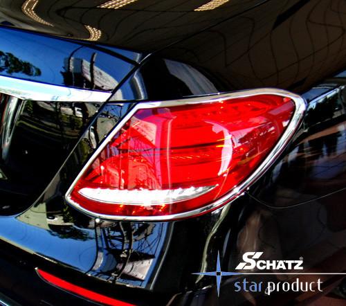 Schätz ® Chrom Rücklichtrahmen für Mercedes Benz E-Klasse W213 Limousine ab 03/2016