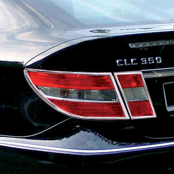 Schätz ® Chrom Rücklichtrahmen für Mercedes CLC CL203, bis Baujahr 11-2011