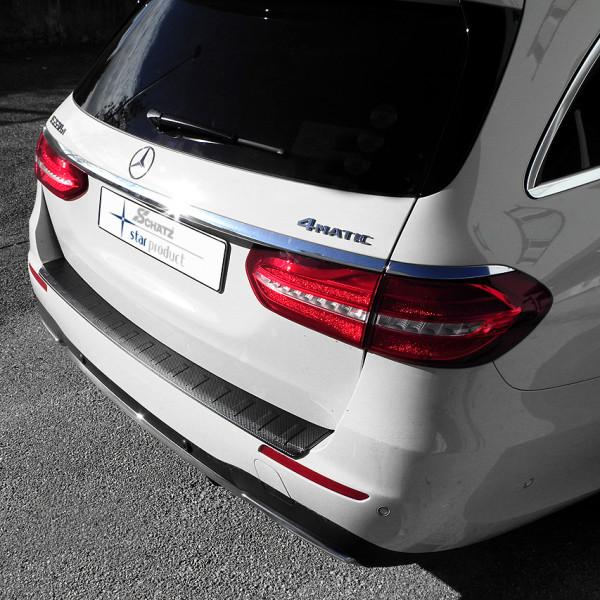 Schätz ® Premium Ladekantenschutz Carbon-Design für Mercedes Benz E-Klasse T-Modell S213 ab Bj, 2016