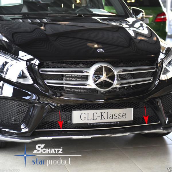Schätz ® Chrom Stoßstangenzierleiste Edelstahl Hochglanz für Mercedes GLE SUV seit 09/2015