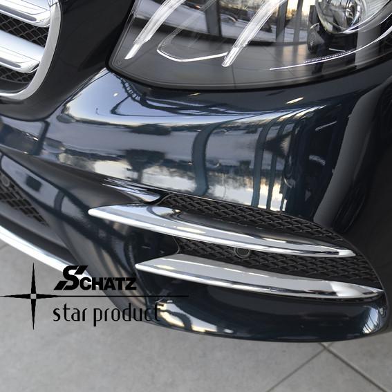 Schätz ® Chrom-Finnen Frontstoßstange für Mercedes Benz E-Klasse W213 Limousine ab 03/2016