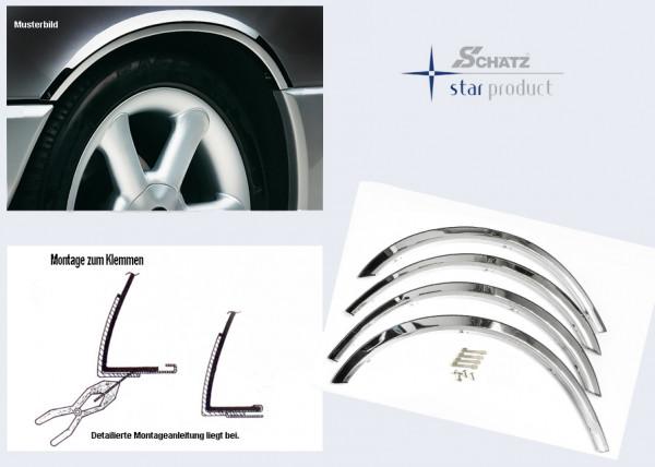 Schätz ® Edelstahl Radlaufleisten hochglanzpoliert Mercedes S-Klasse W221 09/2005–06/2013