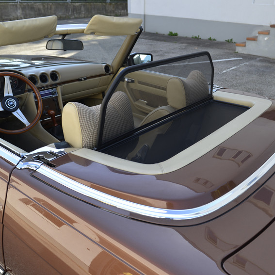 Windschott für Mercedes SL R107 mit Notsitzen