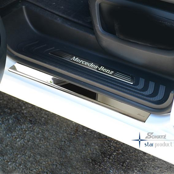 """Schätz ® Edelstahl Einstiegsleisten Hochglanz """"Premium"""" für Mercedes V-Klasse und Vito W447 ab 10/2014"""