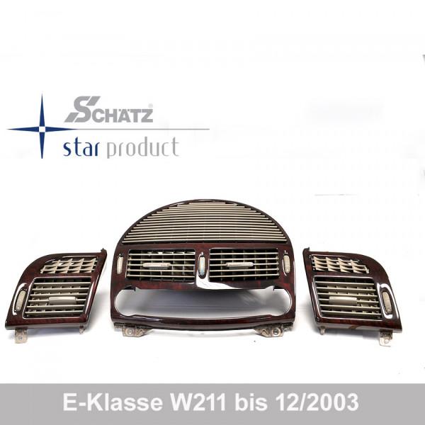 Schätz ® Edelholz Lüftungsdüsenset Wurzelnuss /kiesel E-Klasse W211 bis 12/2003