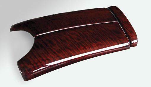 Schätz ® Edelholz Mittelarmlehnenabd. mit ser. Tel. Calyptus Linea für W211