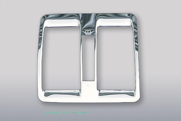 Chrom Heizungsblendenrahmen hinten für Mercedes W140