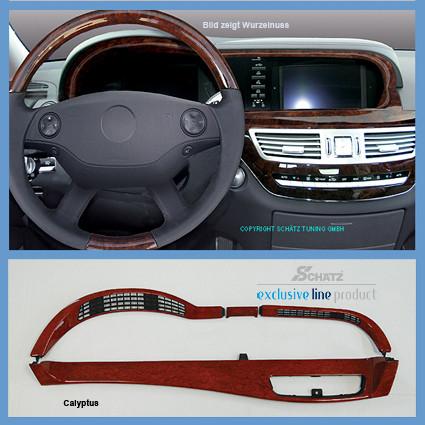 Schätz ® Edelholz Ergänzunssatz in Calyptus für Tachobereich für Mercedes W221
