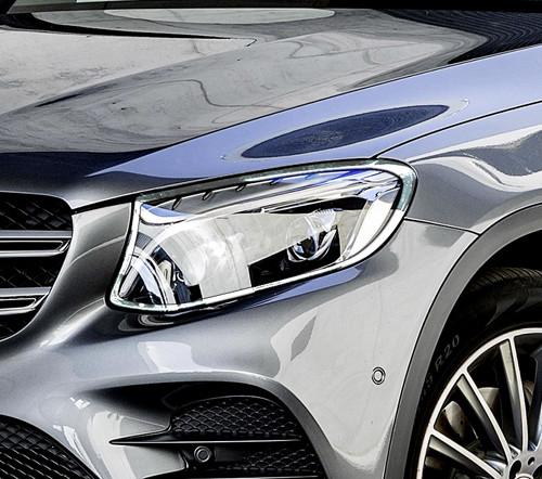Schätz ® Chrom Scheinwerferrahmen für Mercedes Benz GLC X253 SUV ab 06/2015 bis 01.07.2020