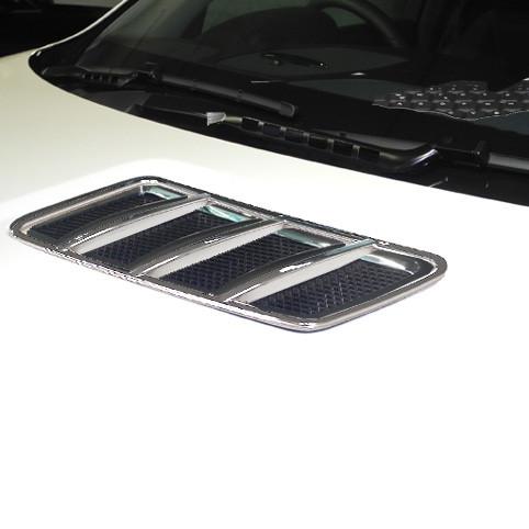Schätz ® Chrom Finnen mit Rahmen Motorhaube für Mercedes GL X166, GLS X166, GLE W166, ML W166