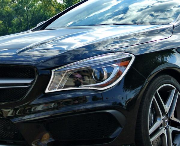 Schätz ® Chrom Scheinwerfer Rahmen Mercedes CLA C117 ab Bj. 2013