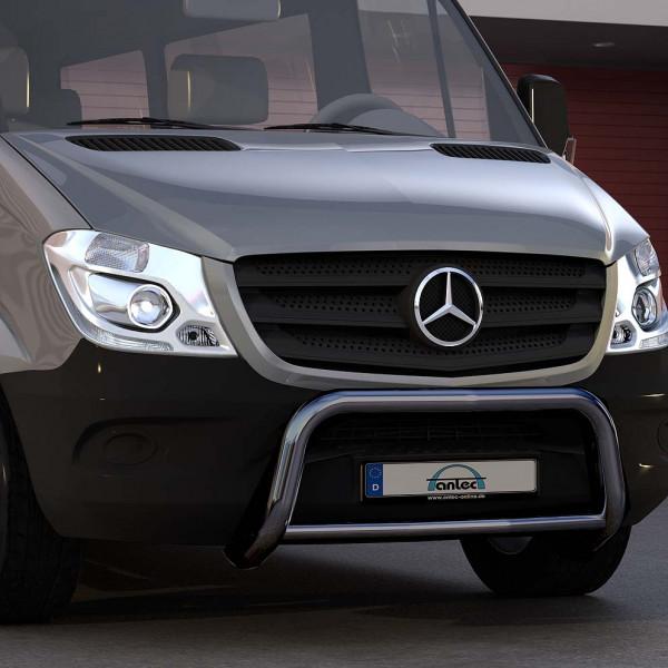 EU-Personenschutzbügel schwarz für Mercedes Sprinter W907 ab 2018 mit Heckantrieb oder Allrad