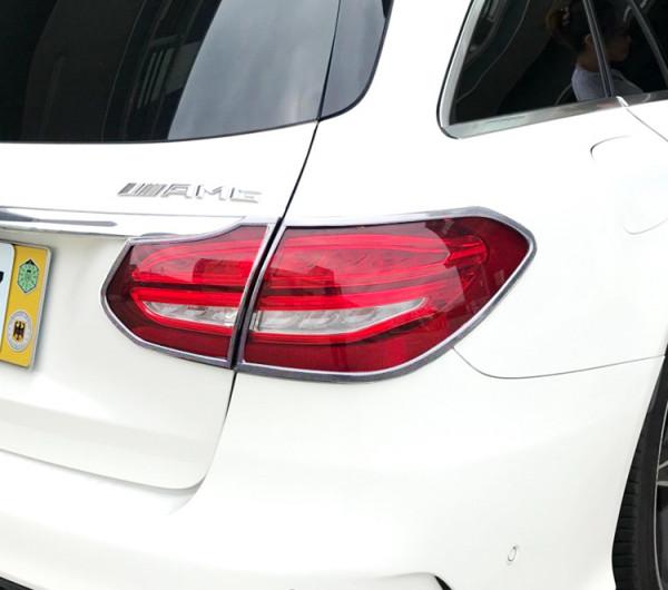 Schätz ® Chrom Rücklichtrahmen Mercedes C-Klasse S205 T-Modell ab Bj. 2014 (Kombi)