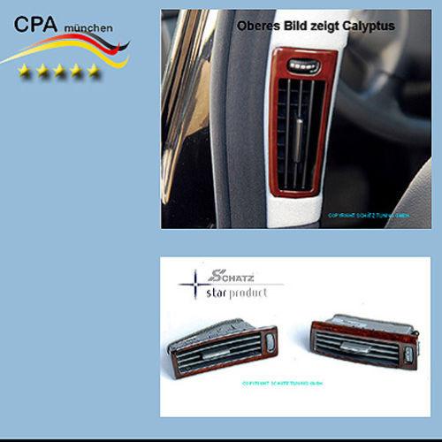 Schätz ® Edelholz Wurzelnuss glänzend Lüftungsdüsen B-Säule Mercedes S-Klasse W221