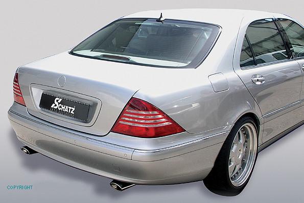 Schätz ® Chrom Sport Auspuffendrohre 2-flutig Mercedes Benz S-Klasse W220 1998 - 2005