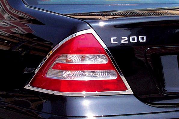 Schätz ® Chrom Rücklichtrahmen für Mercedes Benz C-Klasse Limousine W203 03/2000 - 08/2007