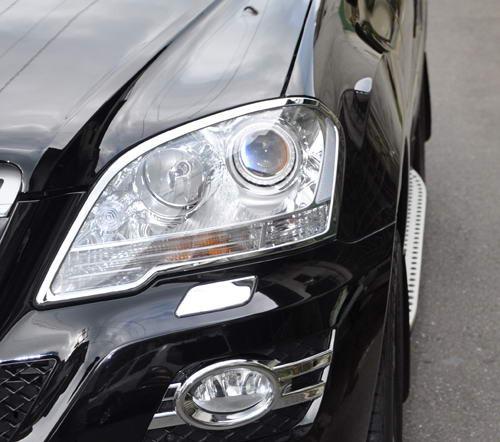Schätz ® Chrom Scheinwerferrahmen Mercedes ML W164 bis Bj. 2008 matt verchromt