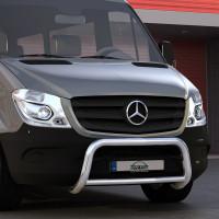 EU-Personenschutzbügel 60mm Querrohr 42mm für Mercedes Sprinter W906 ab 09/2013