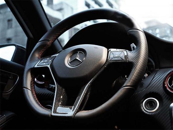 Schätz ® Carbon Lenkrad-Blende für Mercedes Benz W204 W212 W218 X156 W117 W176 R231 AMG