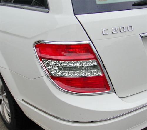 Schätz ® Chrom Rücklichtrahmen für Mercedes C-Klasse W204 T-Modell ab Baujahr 07/2007