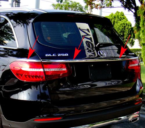 Schätz ® Chrom Heckzierleisten 3 Teile für Mercedes GLC X253 SUV ab 06/2015