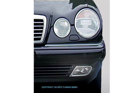 Schätz ® Chrom Nebelscheinwerferrahmen für Mercedes Benz E-Klasse Limousine W210 und T-Modell S210, 1995 - 06/2009