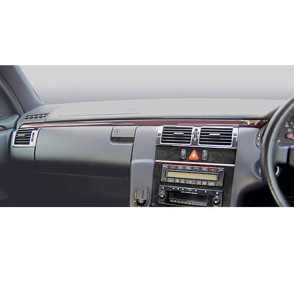 Schätz ® Chrom Lüftungsdüsenrahmen vorne für Mercedes E-Klasse W210 Rechtslenker