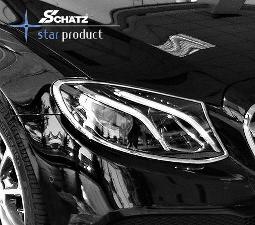 Schätz ® Chrom Scheinwerferrahmen Mercedes Benz E-Klasse W213 / S213 T-Modell, bis 2017
