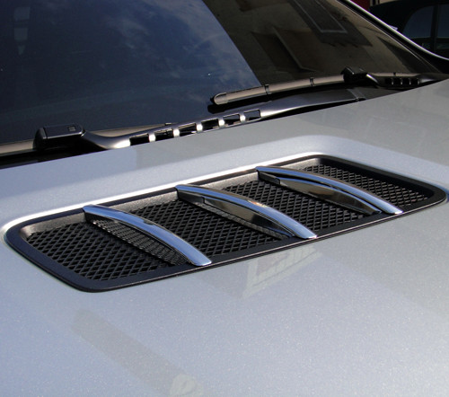 Chrom Finnen Motorhaube für Mercedes GLE Coupe C292 ab 2015 und ML W166
