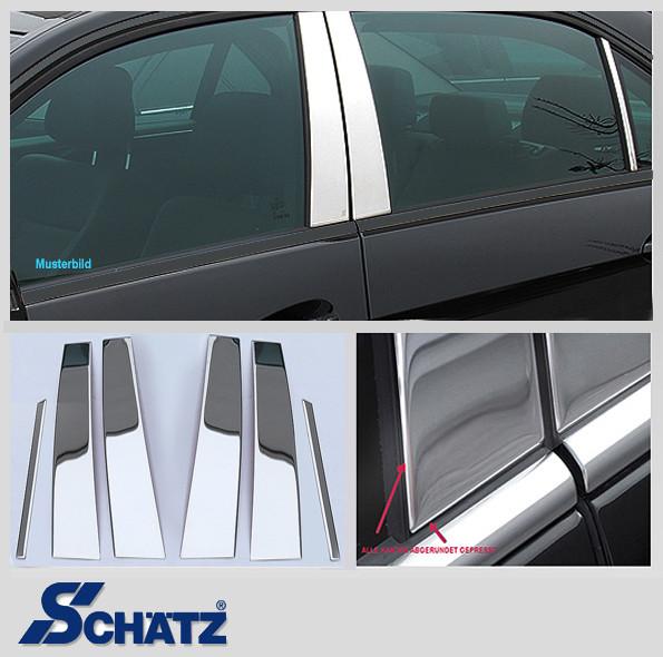 Schätz ® Edelstahl B-Säulenverkleidung für E-Klasse W124 Limousine Set 6 Teile
