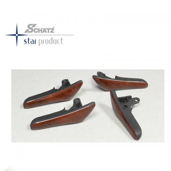 Schätz ® Edelholz Türöffner für W211 Wurzelnuss Set 4 Teile