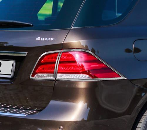 Schätz ® Chrom Rücklichtrahmen Mercedes GLE-Klasse SUV W166, ab 12/2015
